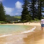 Beautiful beach on Norfolk Island