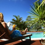 By the pool on Norfolk Island
