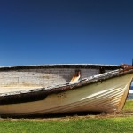 Historic long boat on Norfolk Island