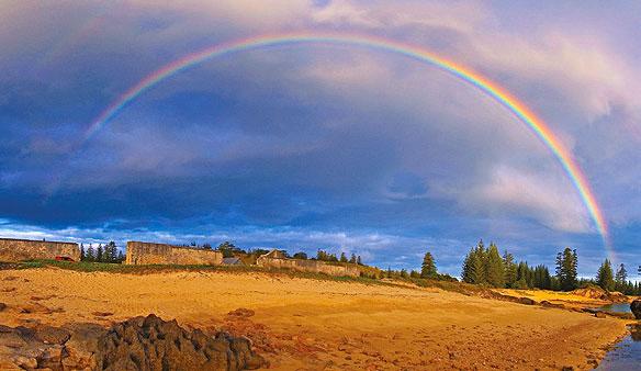 Rainbow on norfolk island